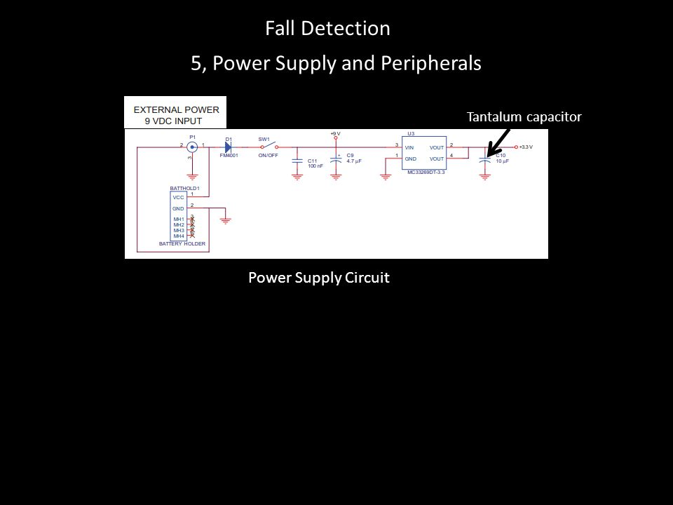5, Power Supply and Peripherals Power Supply Circuit Tantalum capacitor Fall Detection