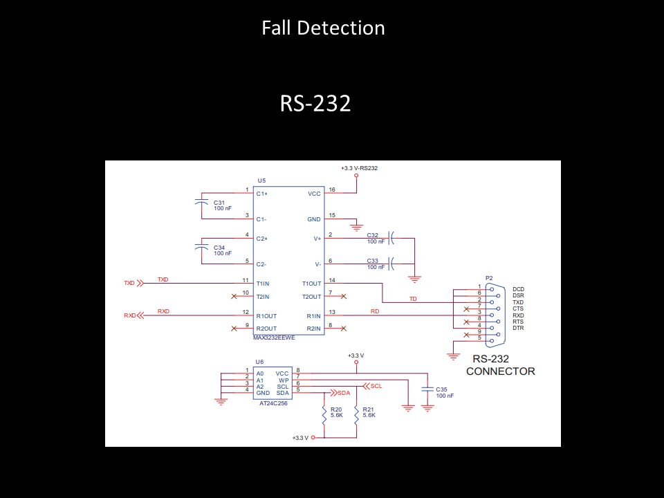 RS-232 Fall Detection