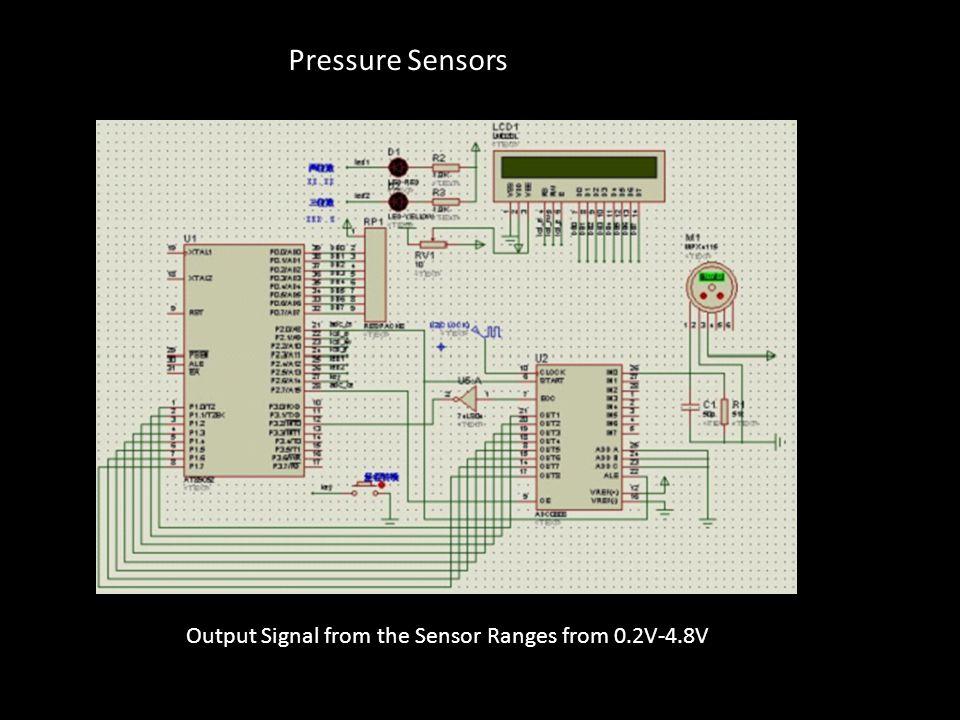 Output Signal from the Sensor Ranges from 0.2V-4.8V Pressure Sensors