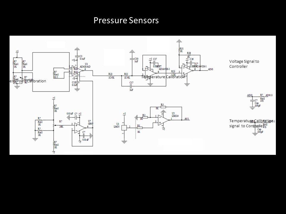 Zero Point Calibration Temperature Calibration Temperature Calibration signal to Controller Preamplifier (AD620) Amplifier Voltage Signal to Controlle