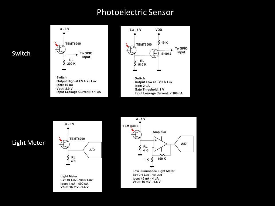 Switch Light Meter Photoelectric Sensor