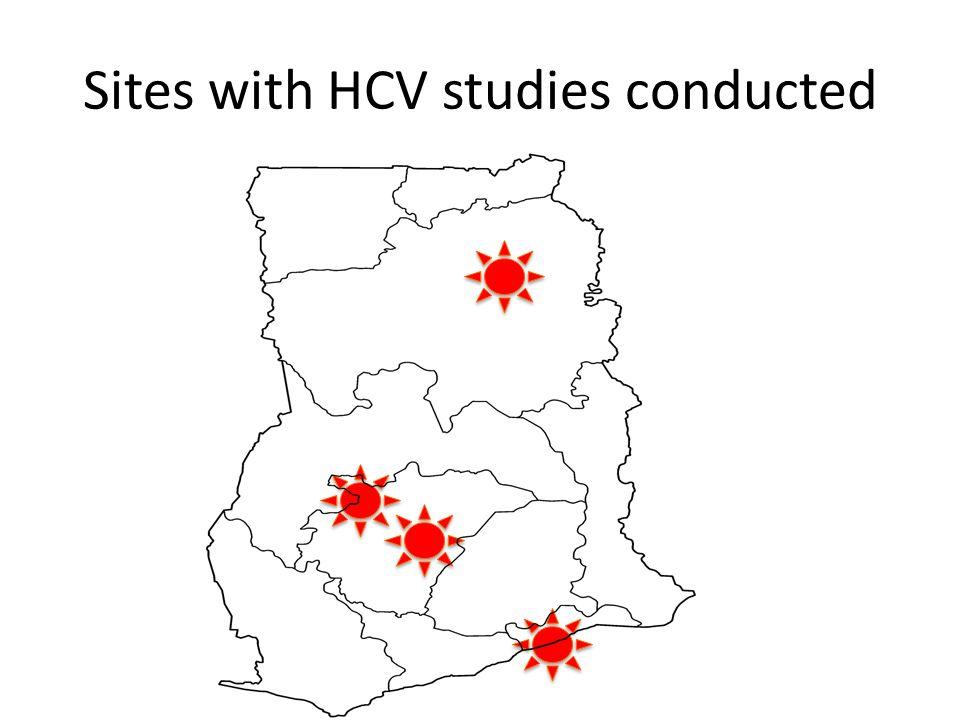 Sero-prevalence of HCV in Ghana Study No.