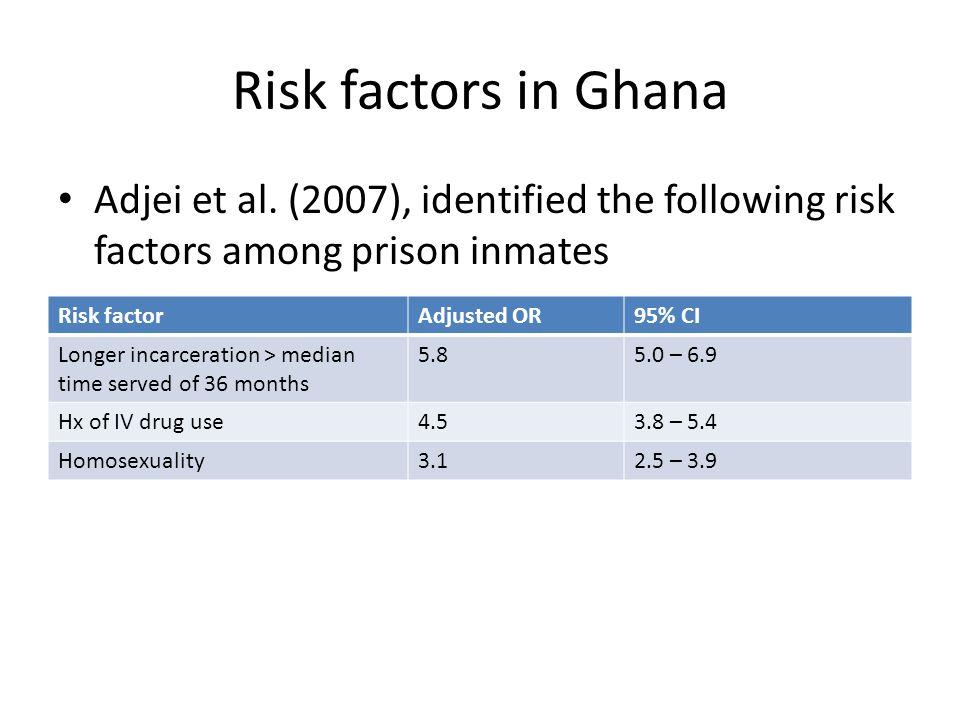 Risk factors in Ghana Adjei et al.
