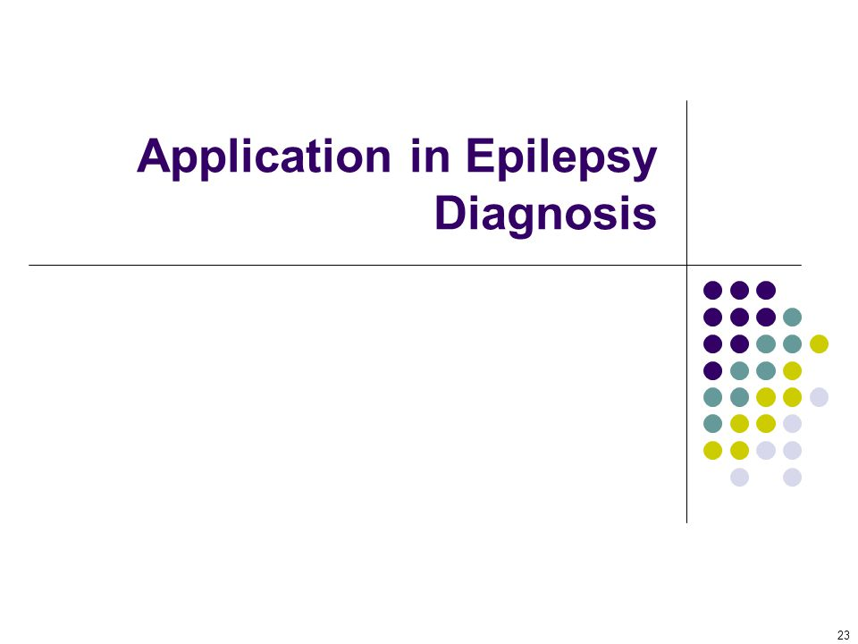 Application in Epilepsy Diagnosis 23