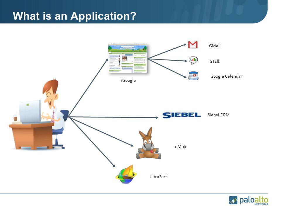 What is an Application iGoogle GMail GTalk Google Calendar Siebel CRM eMule UltraSurf