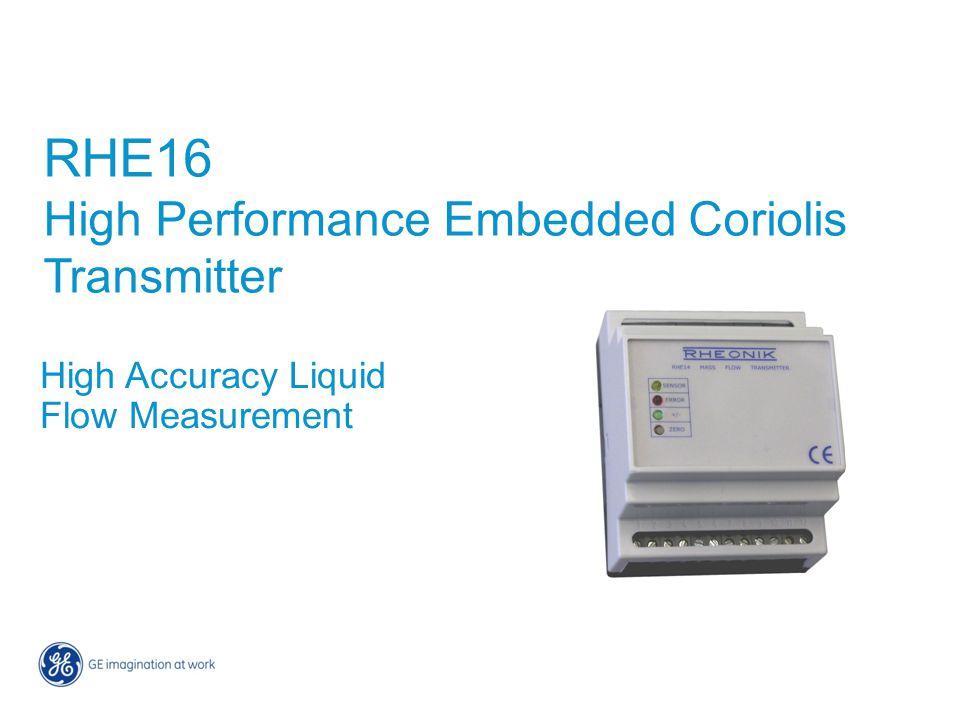 RHE16 High Performance Embedded Coriolis Transmitter High Accuracy Liquid Flow Measurement