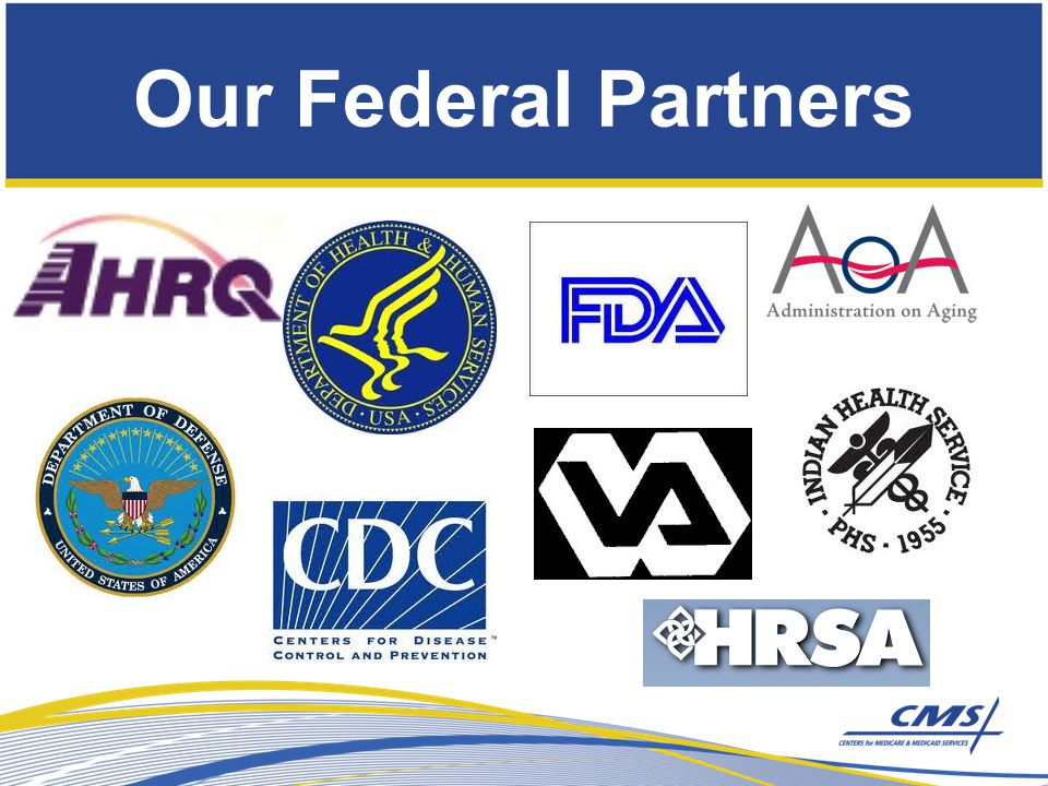 Some of our National Partners Hospitals: HENs Hospital Corporation of America and its 163 hospitals Kaiser Foundation Hospitals and its 35 hospitals Tenet Healthcare Corporations and its 49 hospitals Department of Veterans Affairs and its 171 hospitals Virginia Mason Hospital & Medical Center American Hospital Association Federation of American Hospitals National Association of Public Hospitals and Health Systems Clinicians: American Academy of Pediatrics American Academy of Family Physicians American Board of Medical Specialties American College of Physicians American College of Surgeons American Medical Association American Nurses Association American Society of Health-System Pharmacists National Hispanic Medical Association Consumer Organizations: Campaign for Better Care National Partnership for Women and Families National Patient Safety Foundation Unions: AFL-CIO UAW Retiree Medical Benefits Trust UNITE HERE HEALTH Employers Business Roundtable CalPERS Catalyst for Payment Reform The Dow Chemical Company General Electric Healthcare Leadership Council Honeywell IBM Intel Corporation Johnson & Johnson Motorola Solutions, Inc.