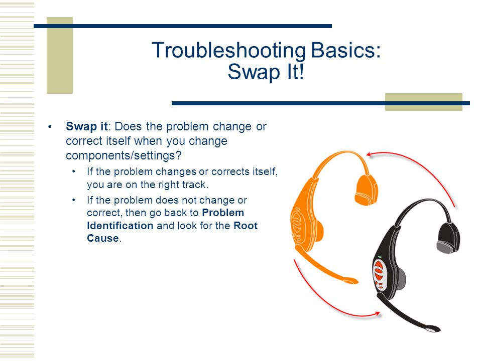 Troubleshooting Basics: Swap It.
