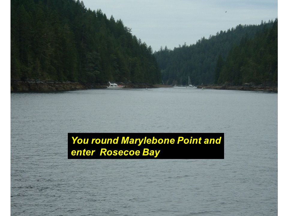 You round Marylebone Point and enter Rosecoe Bay