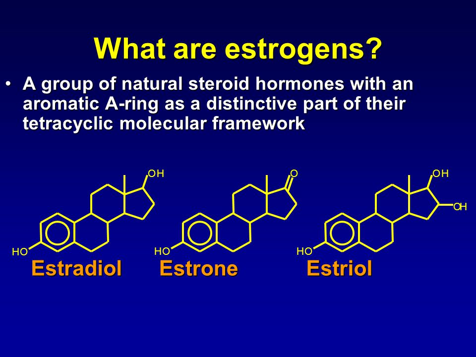 What are estrogens.