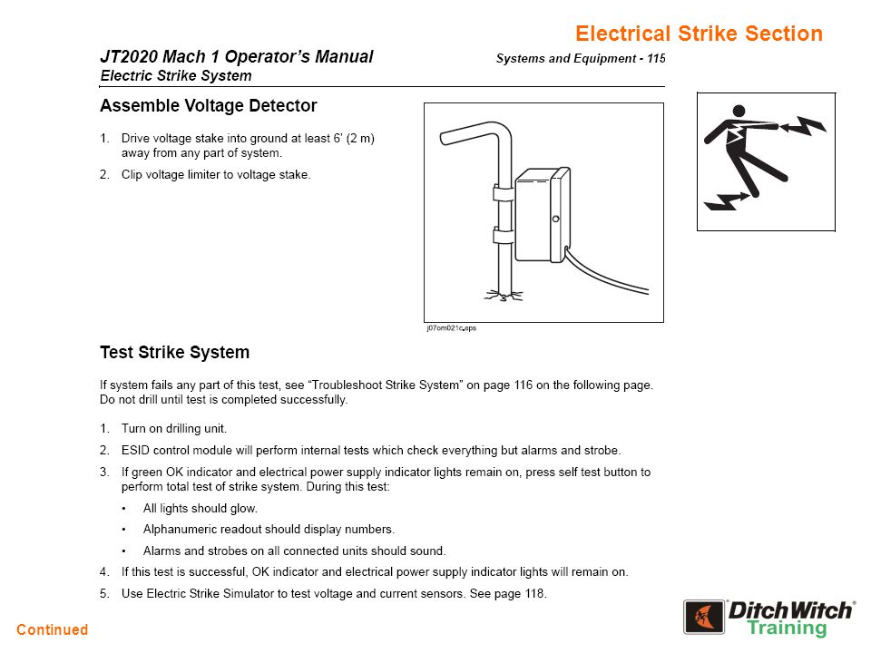 Electrical Strike Section Continued