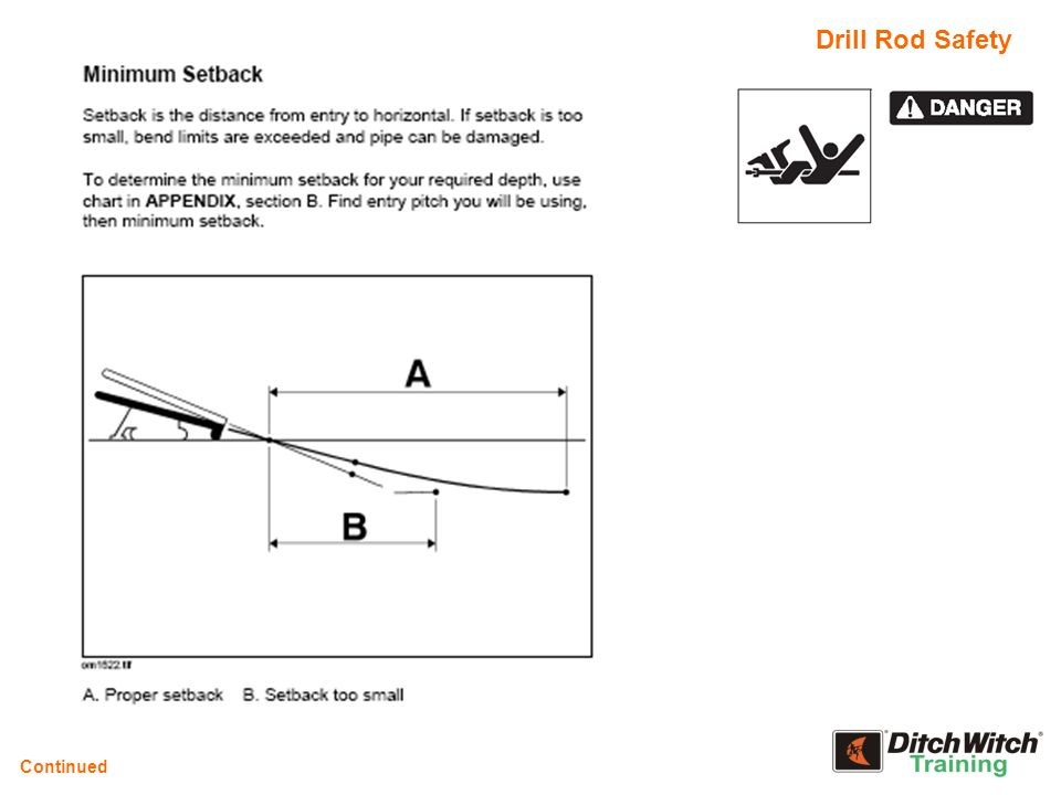 Drill Rod Safety Continued