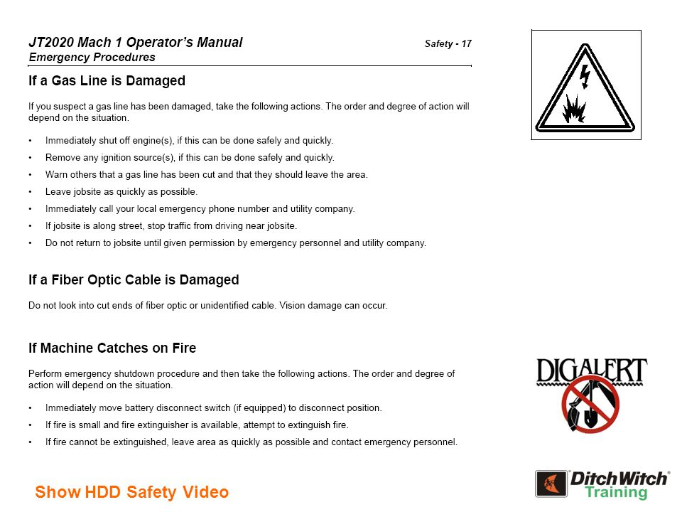 Show HDD Safety Video