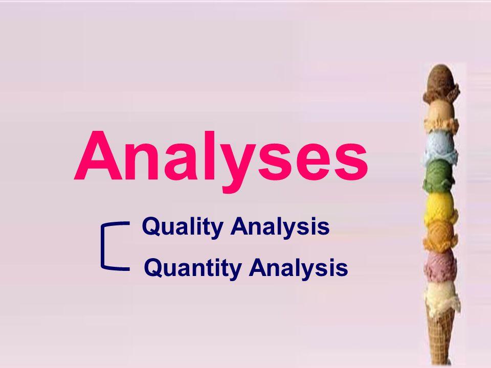 Analyses Quality Analysis Quantity Analysis
