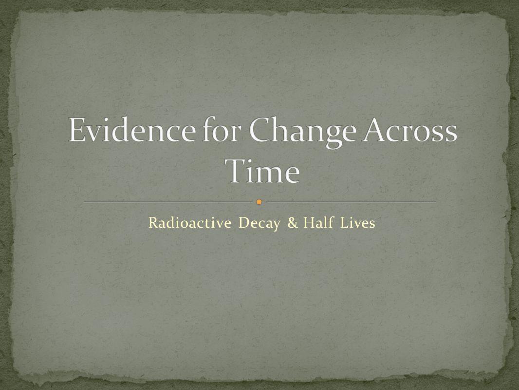 Radioactive Decay & Half Lives
