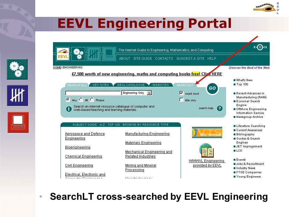 EEVL Engineering Portal SearchLT cross-searched by EEVL Engineering