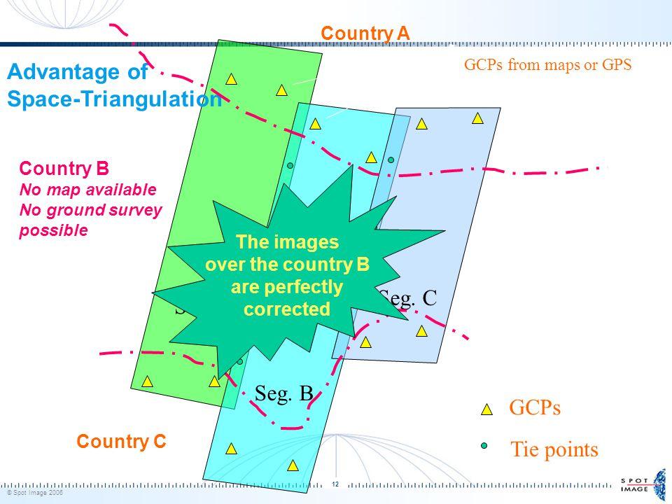 © Spot Image 2006 12 GCPs Tie points Block = segment A + segment B + segment C Seg.