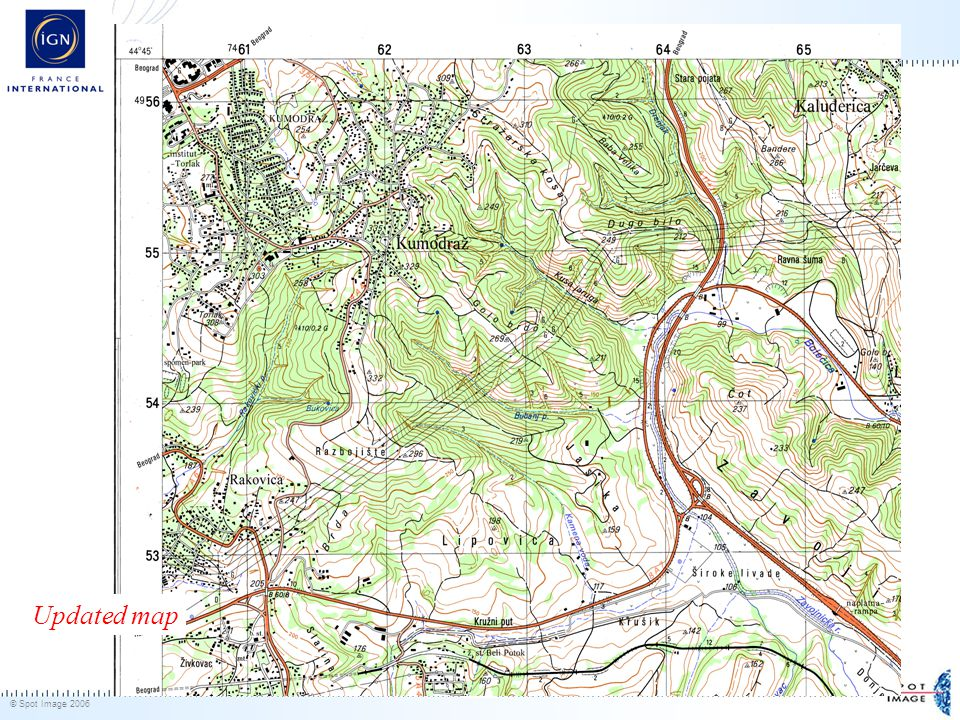 © Spot Image 2006 31 Updated map