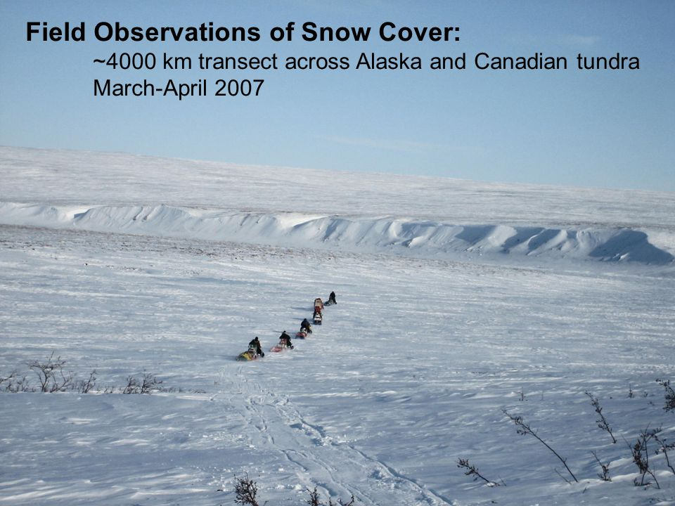 Field Observations of Snow Cover: ~4000 km transect across Alaska and Canadian tundra March-April 2007