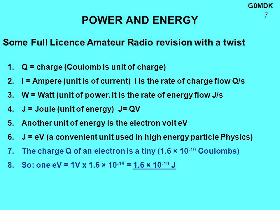 G0MDK 8 ELECTRON VELOCITY No, but almost.Reason: 1.