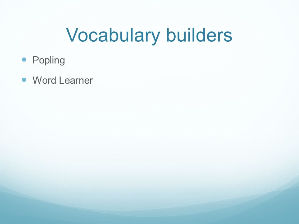 Vocabulary builders Popling Word Learner