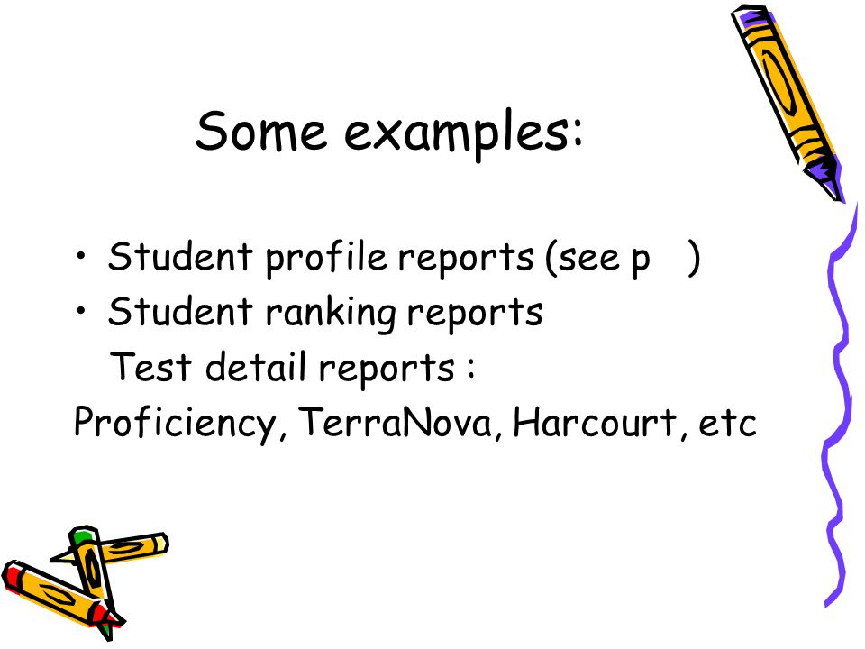 Please refer to page at this time to see other availabe reports that you will eventually learn how to run.