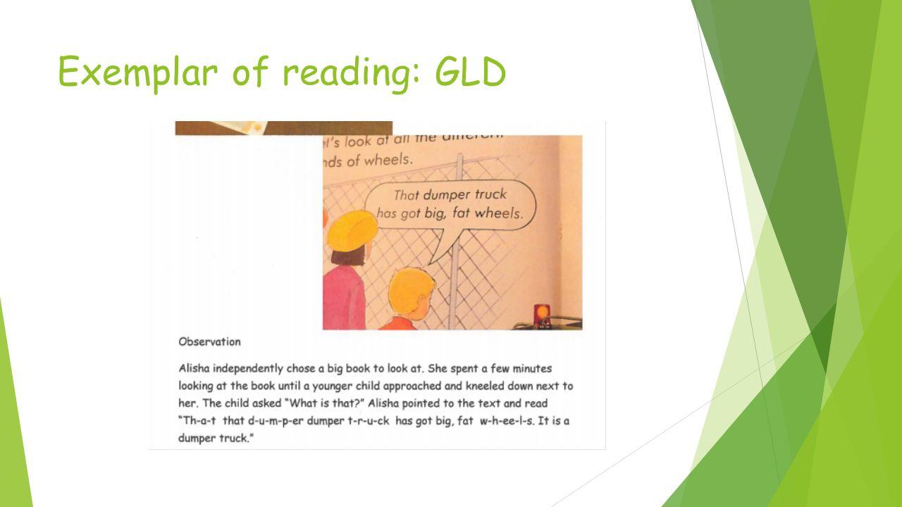 Exemplar of reading: GLD