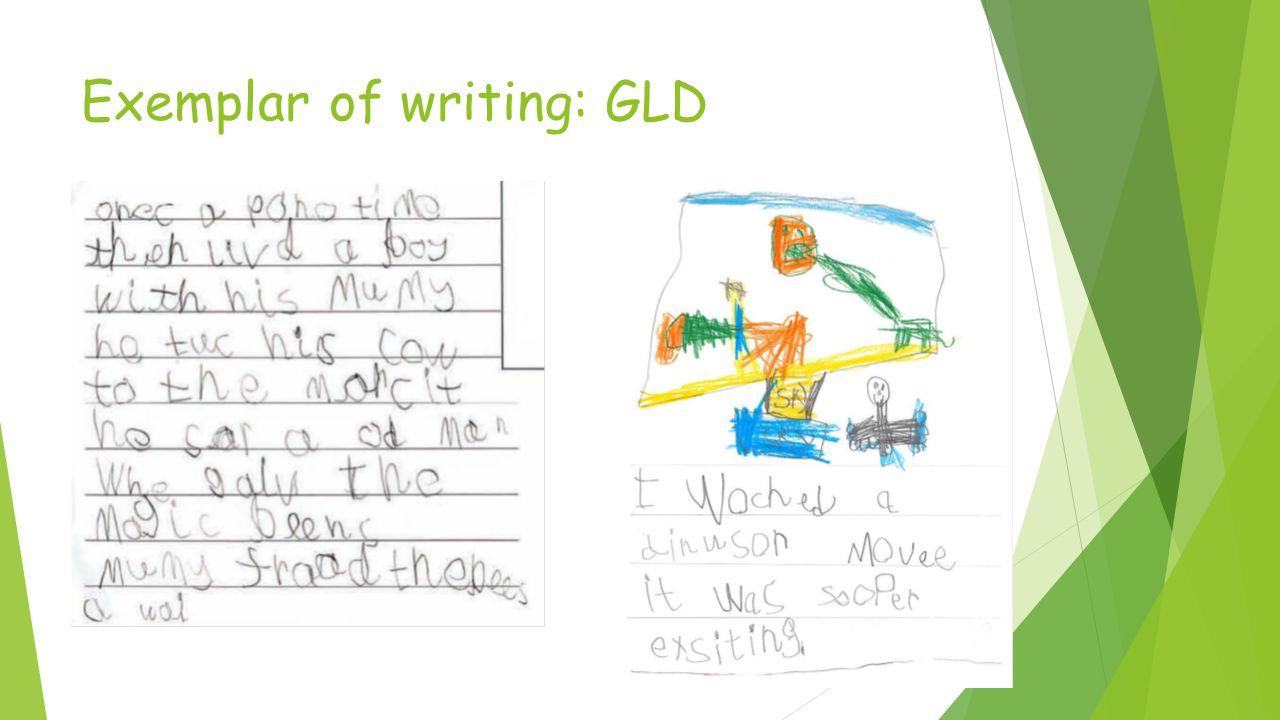 Exemplar of writing: GLD