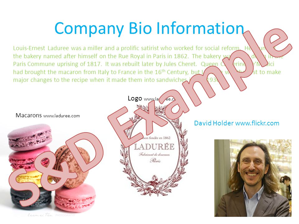 Company Bio Information Louis-Ernest Laduree was a miller and a prolific satirist who worked for social reform.
