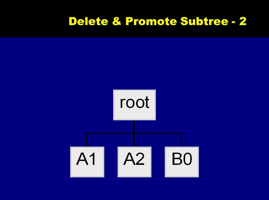 Delete & Promote Subtree - 2
