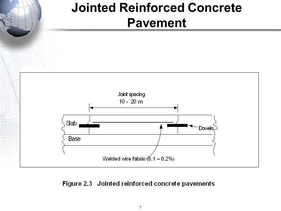 7 Jointed Reinforced Concrete Pavement