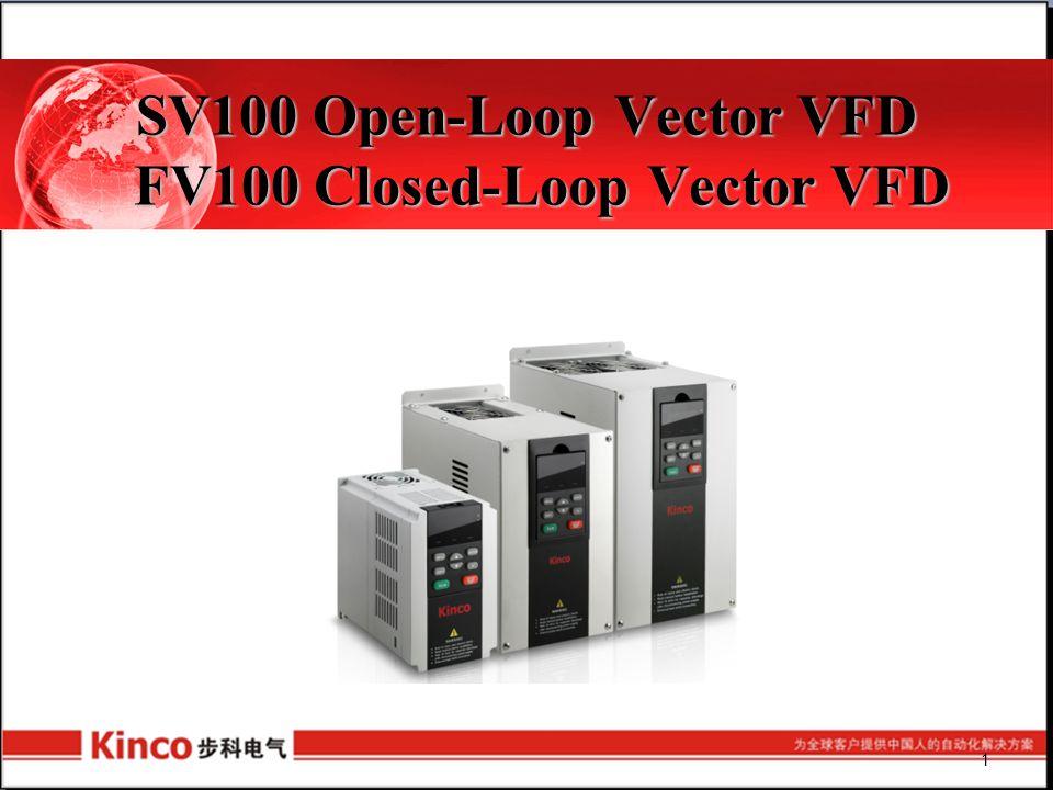 SV100 Open-Loop Vector VFD FV100 Closed-Loop Vector VFD 1