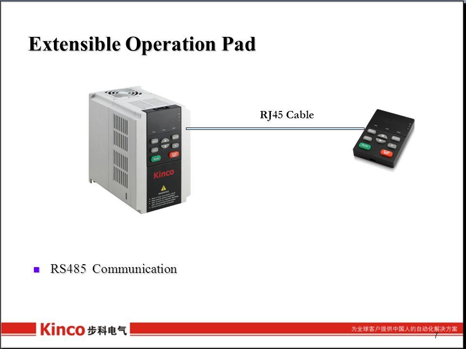 Control Method SV100 : V/F , Open-loop SV100 : V/F , Open-loop FV100 : V/F , Open-loop and closed-loop FV100 : V/F , Open-loop and closed-loop Support analog control: ±10V/4~20mA Support analog control: ±10V/4~20mA Communication Control Communication Control Digital Input Control Digital Input Control Pulse Control ( FV100 ) Pulse Control ( FV100 ) 8