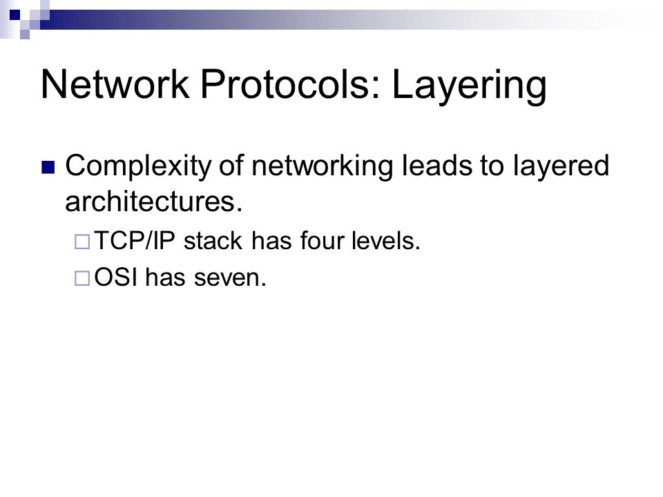 Static Packet Filtering Example  If no rule applies, then the packet is dropped.