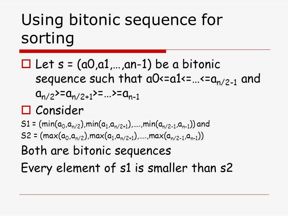 Probe Determination  Should be efficient – done on one processor  The processor keeps track of bounds for all splitters Ideal location of a splitter i is (i+1)n/p When a histogram arrives, the splitter guesses are scanned