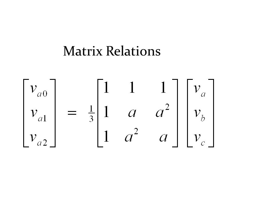 Matrix Relations