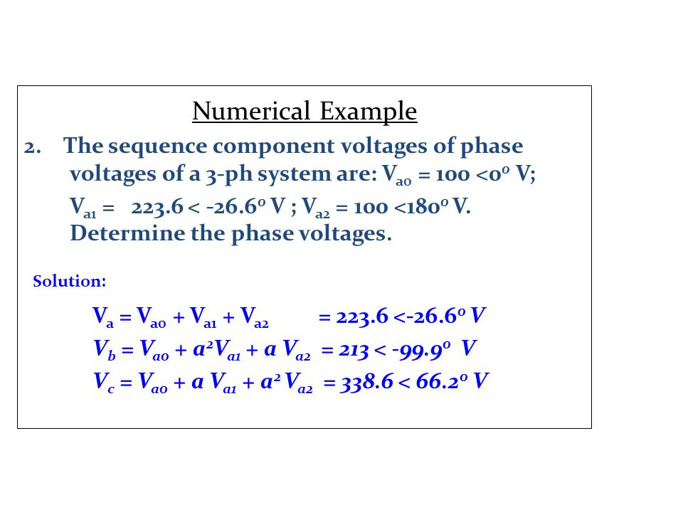 Numerical Example 2.