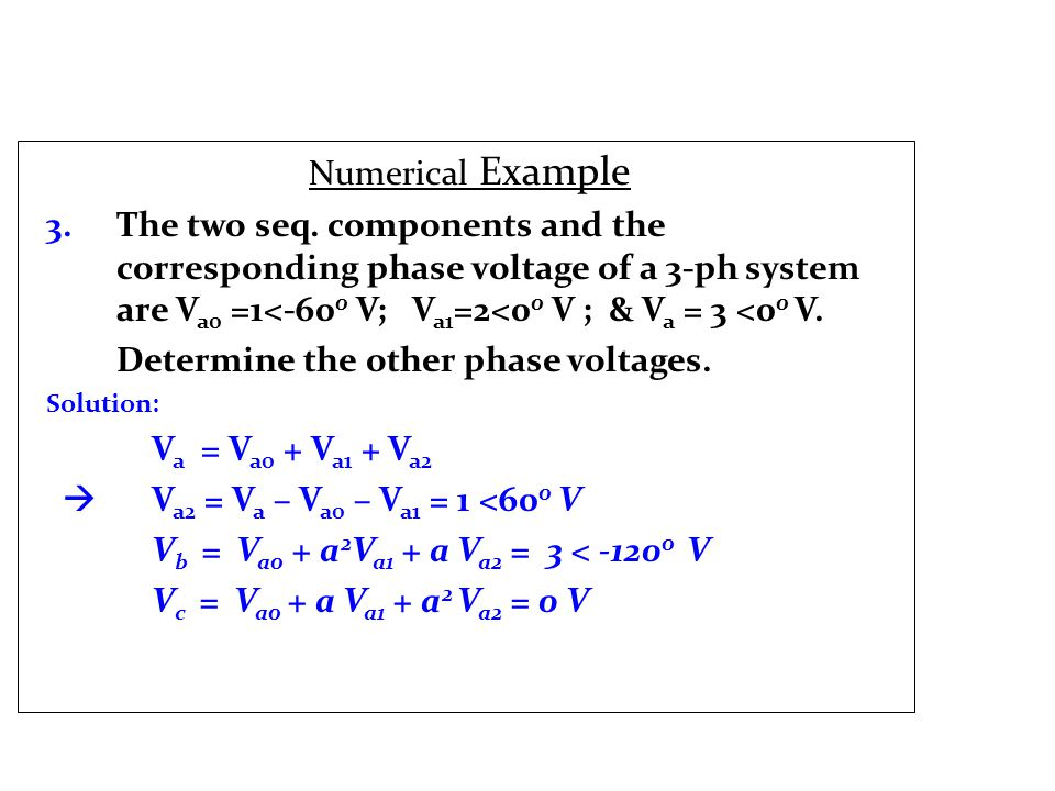 Numerical Example 3. The two seq.