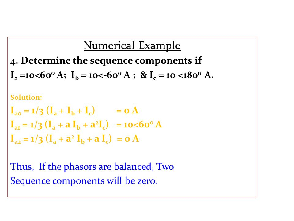 Numerical Example 4.