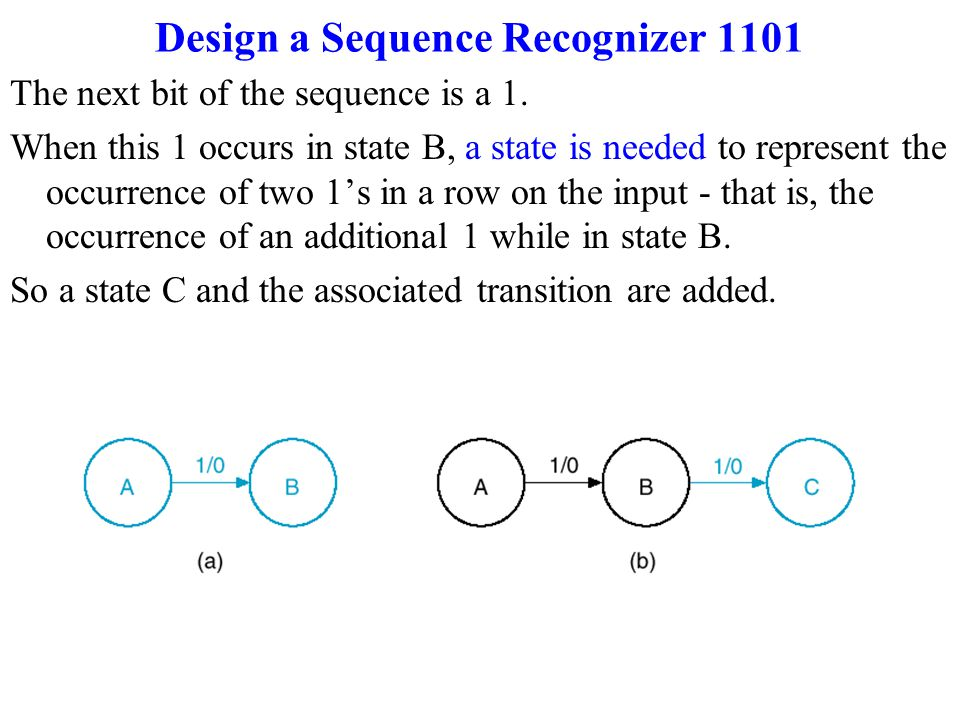 Finding a State diagram for a Sequence Recognizer