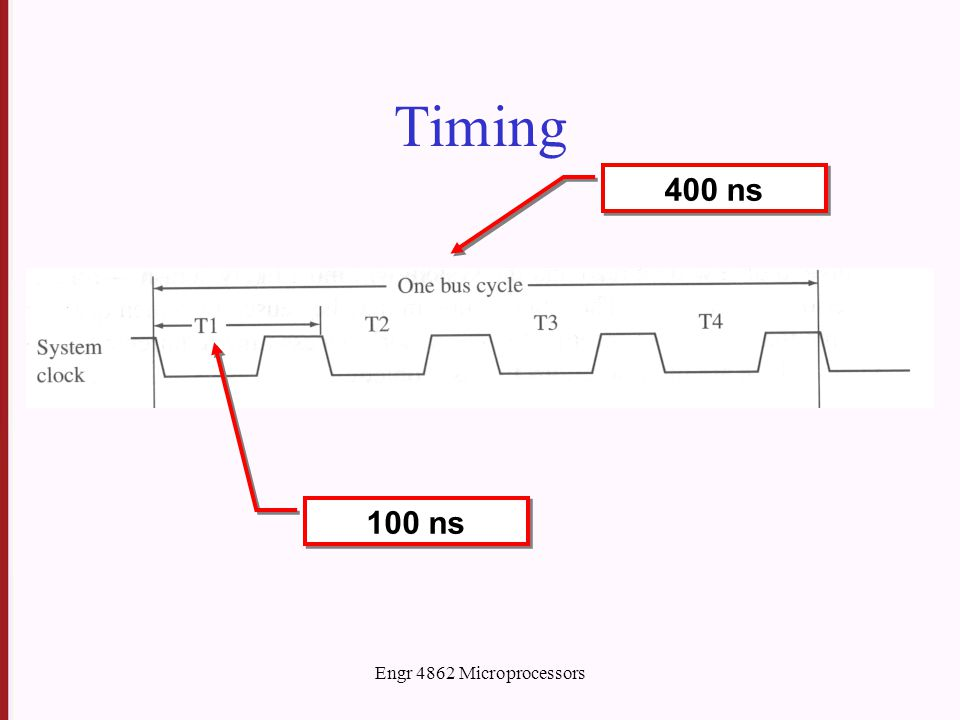 Engr 4862 Microprocessors Timing 100 ns 400 ns