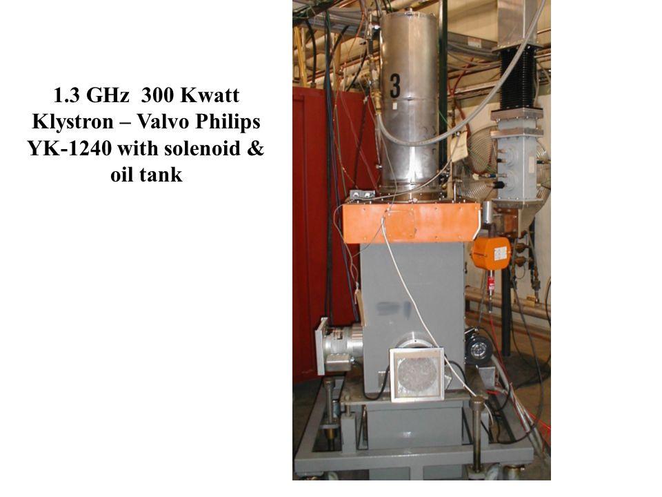 1.3 GHz 300 Kwatt Klystron – Valvo Philips YK-1240 with solenoid & oil tank