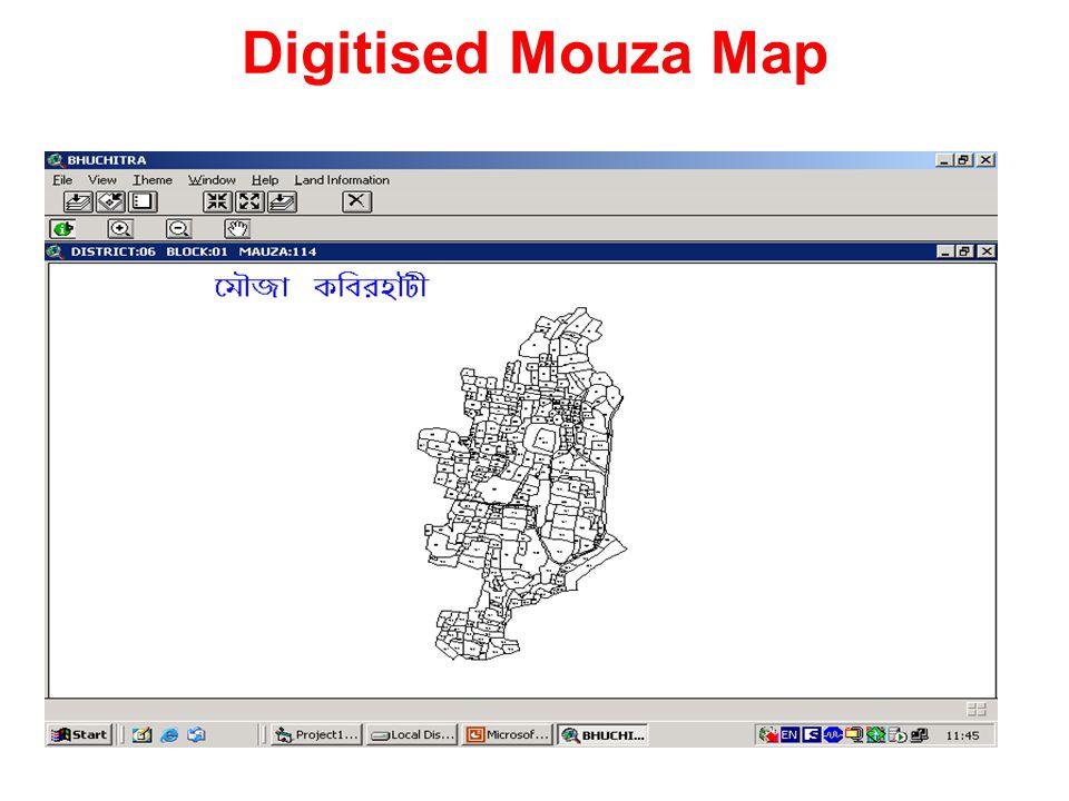 Digitised Mouza Map