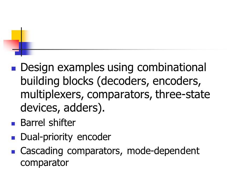 8 bit Comparator B0 A1 B1 A2 B2 A3 A0 B3 74x85 A<BIN A=BIN A>BIN A<BOUT A=B OUT A>BOUT B0 A1 B1 A2 B2 A3 A0 B3 74x85 A<BIN A=BIN A>BIN A<BOUT A=B OUT A>BOUT B0 A1 B1 A2 B2 A3 A0 B3 B4 A5 B5 A6 B6 A7 A4 B7 +5V A<B A=B A>B Most Significant bitsLeast Significant bits