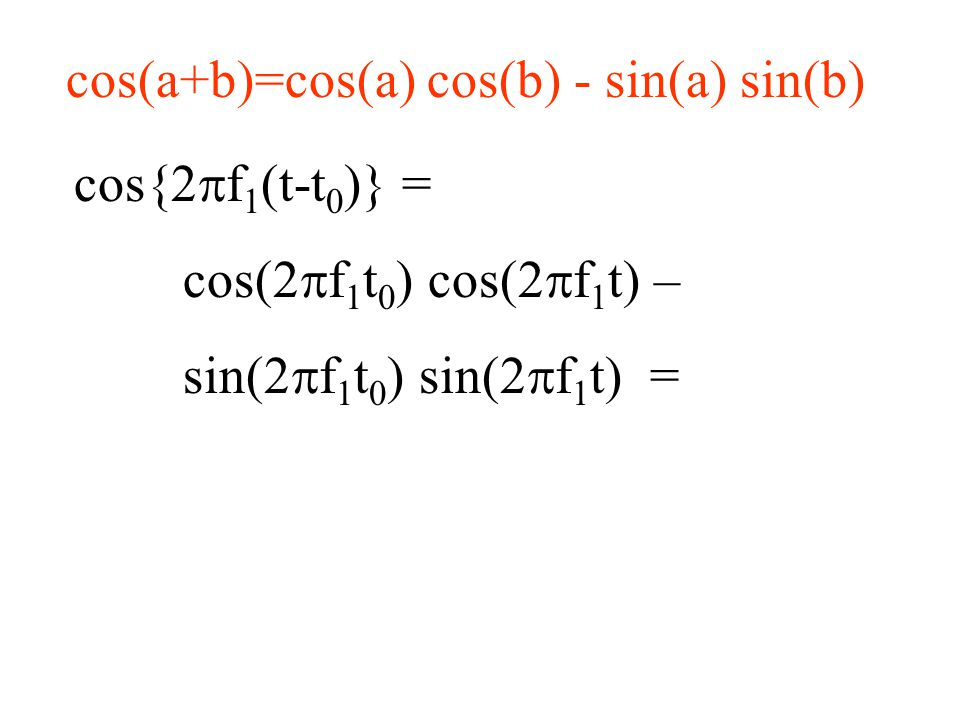 Count of unknowns The constant term, one unknown plus 2 coefficients per frequency, N/2 frequencies so N unknowns minus One unknown since the f N/2 term, which has no sine term equals N unknowns, same as number of data