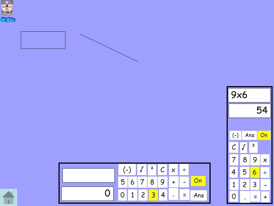 0 123 456 789 9x6 C. ÷ x 54 + On ² - Ans = √ (-) 01234 56789 C. ÷x 0 + On ² - Ans = √ (-)
