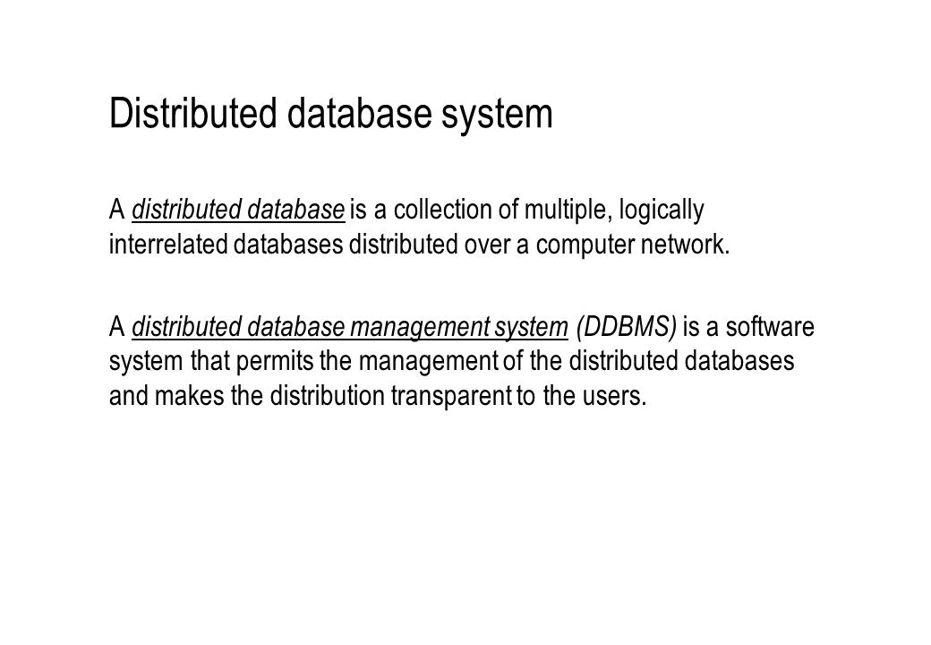 Architectural Alternatives (A1,D1,H1): heterogeneous federated database systems with components of the systems placed at different sites.