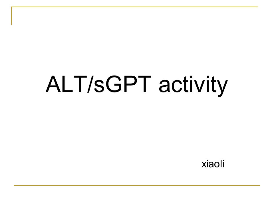 Alanine transaminase (ALT) ALT or sGPT (serum glutamate pyruvate transaminase) ALT GPT (ALT) catalyses the transfer of amino-groups from alanine to 2- oxoglutarate and thus the formation of glutamate and pyruvate.