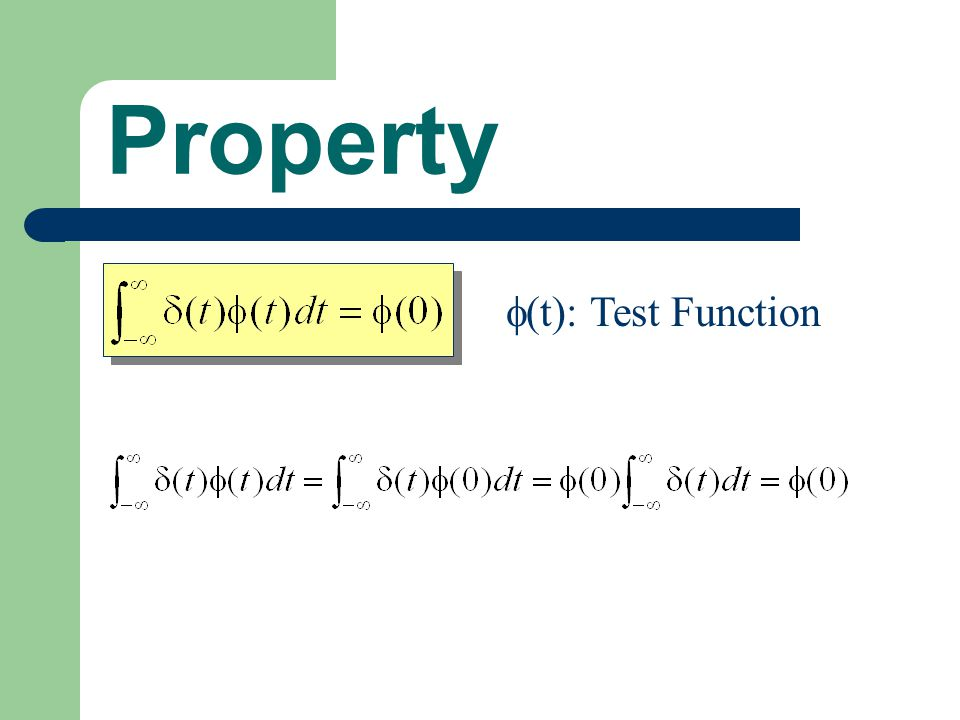 Property  (t): Test Function