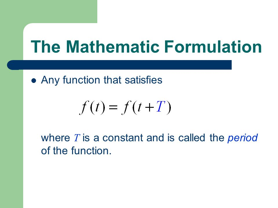 Orthogonal set of Sinusoidal Functions Define  0 =2  /T. an orthogonal set.